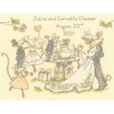 Cross stitch kit Anita Jeram - Mice day for a white wedding - Bothy Threads