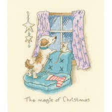 Cross stitch kit Anita Jeram - The magic of Christmas - Bothy Threads
