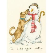 Cross stitch kit Anita Jeram - I like your smile - Bothy Threads
