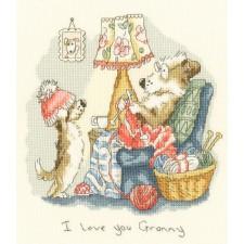 Cross stitch kit Anita Jeram - I love you Granny - Bothy Threads