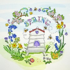 Cross stitch kit Amanda Loverseed - Spring Time - Bothy Threads