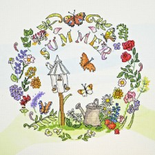 Cross stitch kit Amanda Loverseed - Summer Time - Bothy Threads