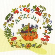 Cross stitch kit Amanda Loverseed - Autumn Time - Bothy Threads