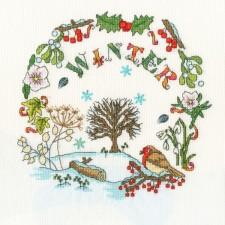 Cross stitch kit Amanda Loverseed - Winter Time - Bothy Threads