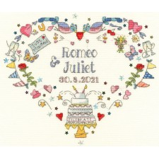 Cross stitch kit Amanda Loverseed - Made For Each Other - Bothy Threads