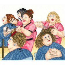 Cross stitch kit Beryl Cook - Hair With Flair - Bothy Threads