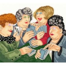 Cross stitch kit Beryl Cook - A Full House - Bothy Threads