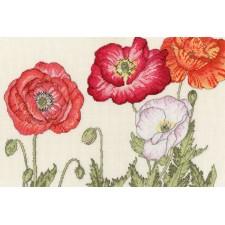 Cross stitch kit Bothy Designs - Poppy Blooms - Bothy Threads
