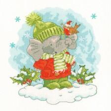 Cross stitch kit Simon Taylor-Kielty - Elly's Snow Day - Bothy Threads