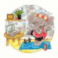 Cross stitch kit Simon Taylor-Kielty - Elly Morning Exercise - Bothy Threads
