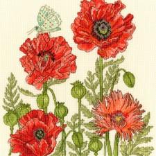 Cross stitch kit Fay Miladowska - Poppy Garden - Bothy Threads