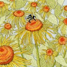 Cross stitch kit Fay Miladowska - Sunflower Garden - Bothy Threads