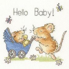 Cross stitch kit Margaret Sherry - Hello Baby! - Bothy Threads