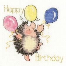Cross stitch kit Margaret Sherry - Birthday Balloons  - Bothy Threads