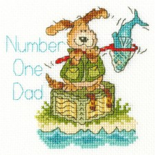 Cross stitch kit Margaret Sherry - Number One Dad - Bothy Threads