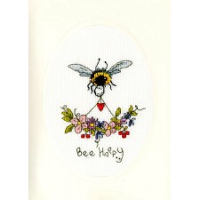 Cross stitch kit Eleanor Teasdale - Bee Happy - Bothy Threads