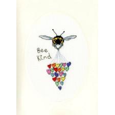 Cross stitch kit Eleanor Teasdale - Bee Kind - Bothy Threads