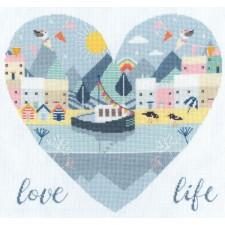 Cross stitch kit Hilary Yafai - Love Life - Bothy Threads