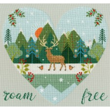 Cross stitch kit Hilary Yafai - Roam Free - Bothy Threads