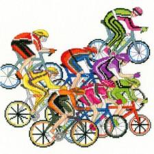 Cross stitch kit Julia Rigby - Cycling Fun - Bothy Threads