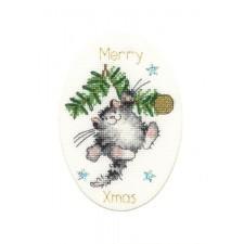 Cross stitch kit Margaret Sherry - Swing Into Xmas - Bothy Threads