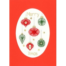 Cross stitch kit Bothy Designs - Christmas Baubles - Bothy Threads