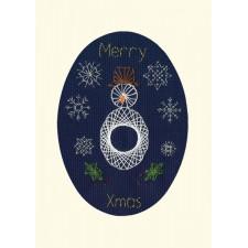 Cross stitch kit Bothy Designs - Christmas Snowman - Bothy Threads