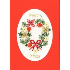 Cross stitch kit Bothy Designs - Christmas Wreath - Bothy Threads