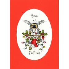 Cross stitch kit Eleanor Teasdale - Bee Festive - Bothy Threads