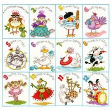 Cross stitch kit Margaret Sherry - Christmas Dozen - Bothy Threads