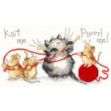 Cross stitch kit Margaret Sherry - Knit One Purrrl One - Bothy Threads