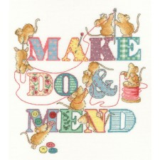 Cross stitch kit Margaret Sherry - Make Do And Mend - Bothy Threads