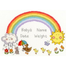 Cross stitch kit June Armstrong - Rainbow Baby - Bothy Threads
