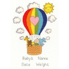 Cross stitch kit June Armstrong - Balloon Baby - Bothy Threads