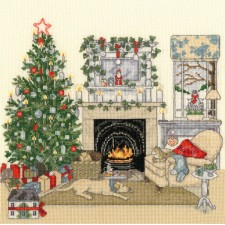 Cross stitch kit Sally Swannell - Christmas Eve - Bothy Threads