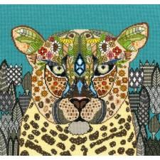 Cross stitch kit Sharon Turner  - Jewelled Leopard - Bothy Threads