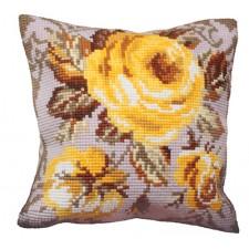 Cushion cross stitch kit Rose Antique - Collection d'Art