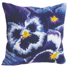 Cushion cross stitch kit Hiver - Collection d'Art