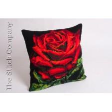 Cushion cross stitch kit Rose de Damas - Collection d'Art