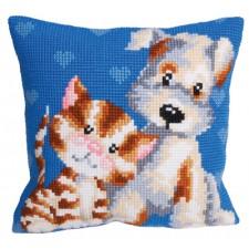 Cushion cross stitch kit Les Amis - Collection d'Art