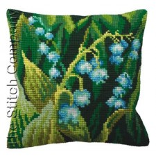 Cushion cross stitch kit Muguet Gauche - Collection d'Art