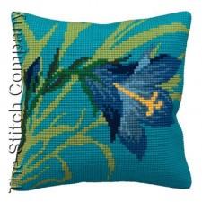 Cushion cross stitch kit Lys Sauvage - Collection d'Art