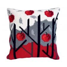 Cushion cross stitch kit Apple Garden - Collection d'Art