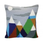 Cushion cross stitch kit Mountaintops - Collection d'Art