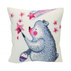 Cushion cross stitch kit Painting the Stars  - Collection d'Art