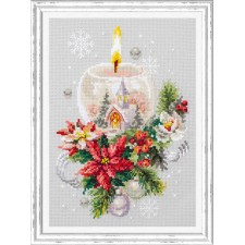 Cross stitch kit Christmas Candle