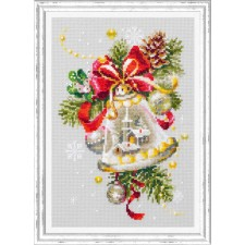 Cross stitch kit Christmas Bell