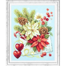 Cross stitch kit Merry Christmas! - Chudo Igla