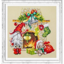 Cross stitch kit Waiting for Christmas