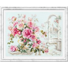 Cross stitch kit Roses for the Duchess - Chudo Igla